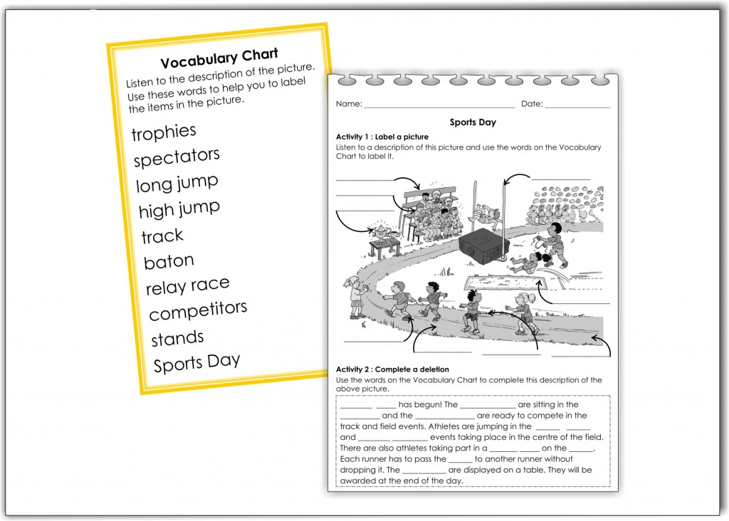 Activity Vocabulary small